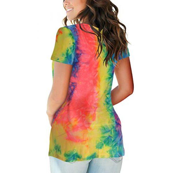 FOWSMON Graphic Tshirt 3 Women's Casual V Neck Short Sleeve Tops Basic Summer T Shirts