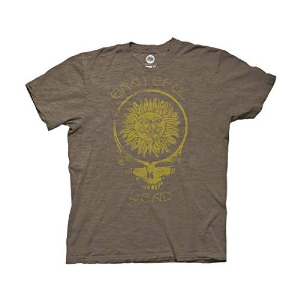 Ripple Junction Graphic Tshirt 1 Grateful Dead Adult Unisex Steal Your Face Sun with Curved Type Light Weight Crew T-Shirt