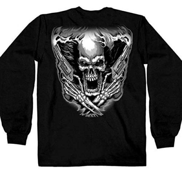 Hot Leathers Graphic Tshirt 4 Hot Leathers Assassin Double Sided Long Sleeve T-Shirt (Black, Medium)