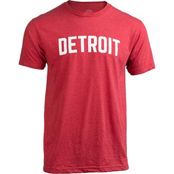 Ann Arbor T-shirt Co. Graphic Tshirt 1 Detroit | Classic Retro City Grey Blue Red Black Detroiter 313 Cool Michigan Men Women T-Shirt
