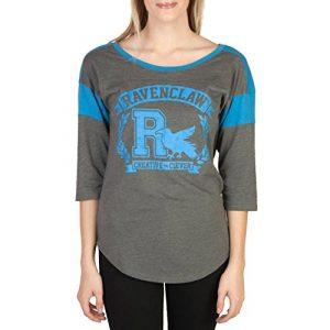 Harry Potter Graphic Tshirt 3 Ravenclaw Raglan Athletic Tee Shirt T-Shirt