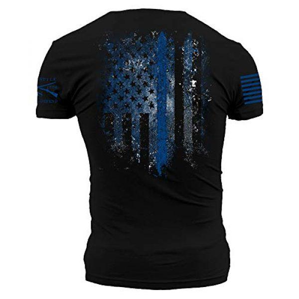 Grunt Style Graphic Tshirt 1 Blue Shield - Men's T-Shirt Black