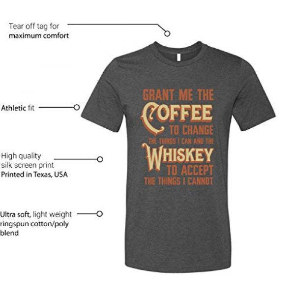 GunShowTees Graphic Tshirt 3 Men's Grant Me Coffee to Change Things I Can Whiskey to AcceptShirt