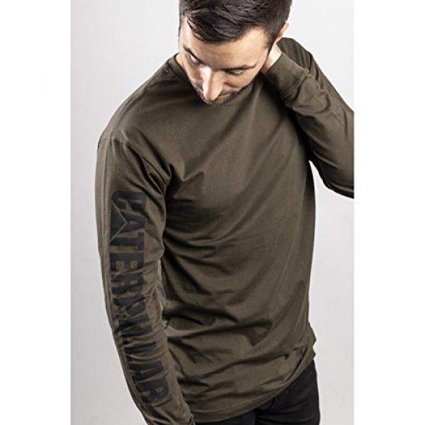 Caterpillar Graphic Tshirt 6 Men's Trademark Banner Long Sleeve T-Shirt