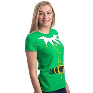 Ann Arbor T-shirt Co. Graphic Tshirt 1 Santa's Elf Costume   Jumbo Print Novelty Christmas Holiday Humor Ladies T-Shirt