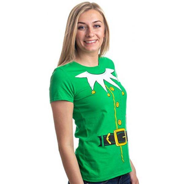 Ann Arbor T-shirt Co. Graphic Tshirt 1 Santa's Elf Costume | Jumbo Print Novelty Christmas Holiday Humor Ladies T-Shirt