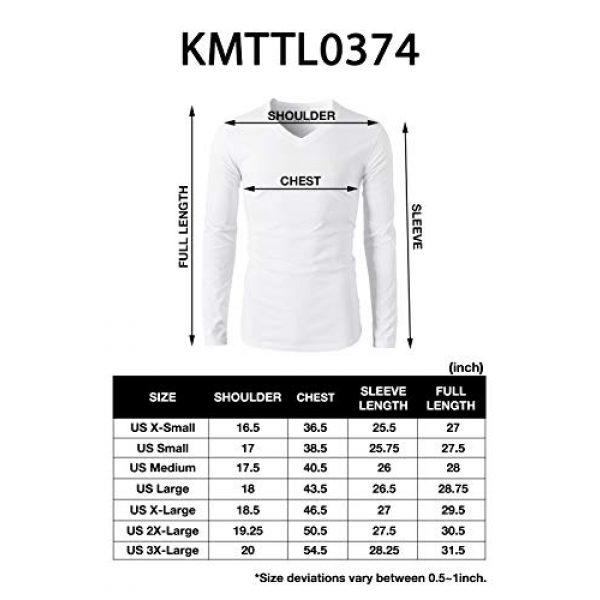 H2H Graphic Tshirt 6 Mens Casual Slim Fit Long Sleeve V-Neck T-Shirts