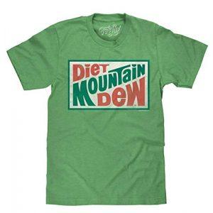 Tee Luv Graphic Tshirt 1 Diet Mountain Dew T-Shirt - Vintage MTN Dew Logo Shirt