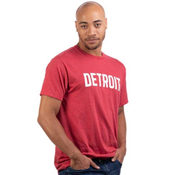 Ann Arbor T-shirt Co. Graphic Tshirt 3 Detroit | Classic Retro City Grey Blue Red Black Detroiter 313 Cool Michigan Men Women T-Shirt