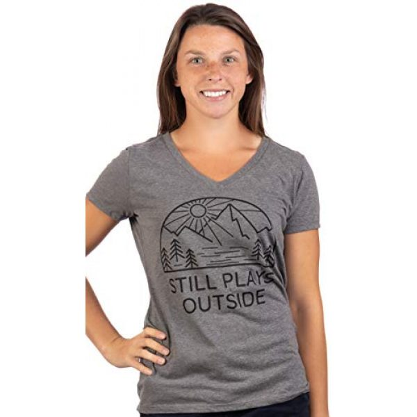 Ann Arbor T-shirt Co. Graphic Tshirt 2 Still Plays Outside | Funny Cool Camping Hiking Camp Hike Women Outdoors Shirt Top