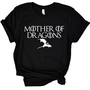 ANRevelinCN Graphic Tshirt 1 Unisex Cotton Round Neck Short Sleeved T-Shirts Mother of Dragons T-Shirts Game of Thrones
