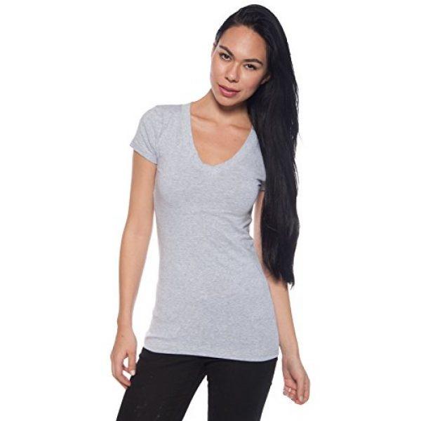 Zenana Outfitters Graphic Tshirt 4 4 Pack Zenana Women's Basic V-Neck T-Shirts