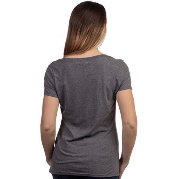 Ann Arbor T-shirt Co. Graphic Tshirt 4 Cute Glasses Chick | Funny Backyard Chicken Hen Chiken 4H Farm Egg Humor V-Neck T-Shirt for Women