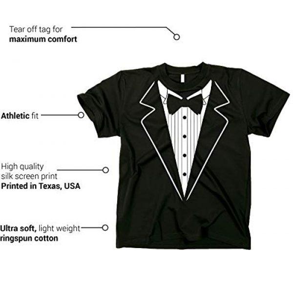 GunShowTees Graphic Tshirt 3 Men's Novelty Tuxedo with Bowtie Shirt