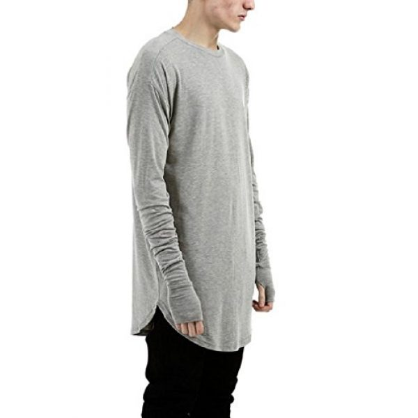 LILBETTER Graphic Tshirt 2 Mens Thumb Hole Cuffs Long Sleeve T-Shirt Basic Tee