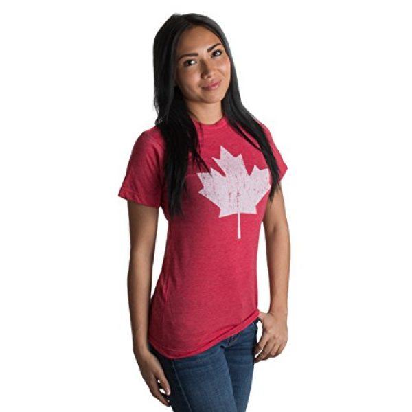 Ann Arbor T-shirt Co. Graphic Tshirt 4 Canada Pride   Vintage Style, Retro-Feel Canadian Maple Leaf Unisex T-Shirt
