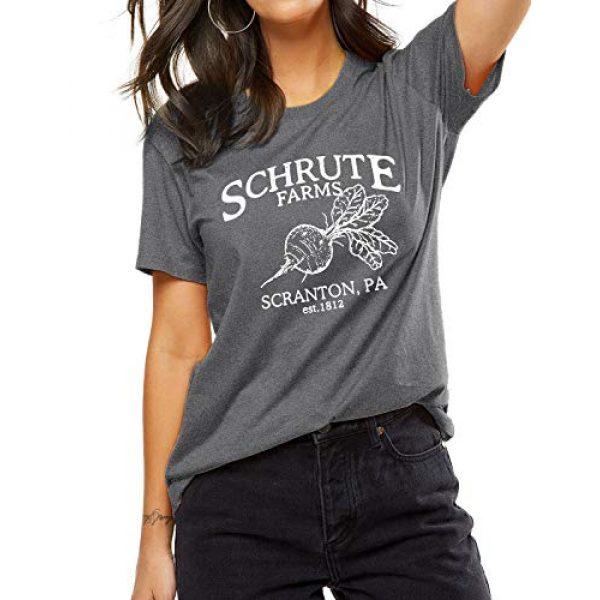 OUNAR Graphic Tshirt 1 Women Schrute Farms Shirt Cute The Office Graphic T-Shirt Sweatshirt with Pocket
