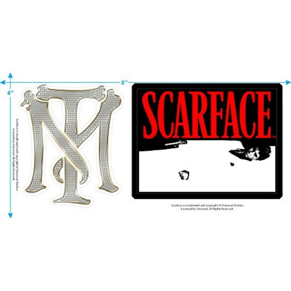 Popfunk Graphic Tshirt 3 Scarface The World is Yours T Shirt & Stickers