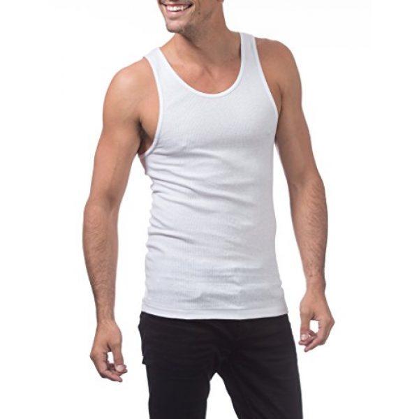 Pro Club Graphic Tshirt 4 Men's Premium Ringspun Cotton Ribbed A-Shirt