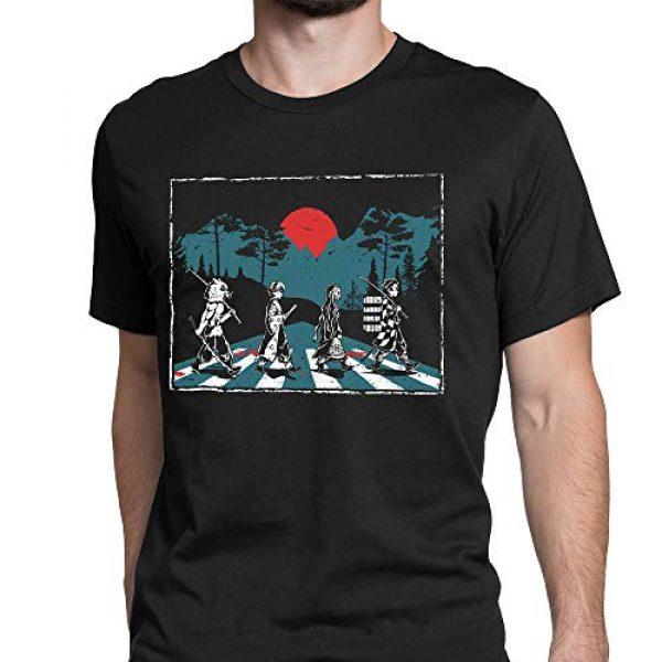 Tee No Evil Graphic Tshirt 3 Demon Slayer Abbey Road Tanjiro Nezuko Zenitsu Inosuke T Shirt