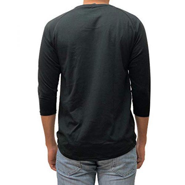 Kangora Graphic Tshirt 3 Mens Plain Raglan Baseball Tee T-Shirt Unisex 3/4 Sleeve Casual Athletic Performance Jersey Shirt