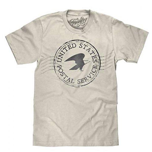 Tee Luv Graphic Tshirt 1 United States Postal Service T-Shirt - Eagle Logo Mail Shirt