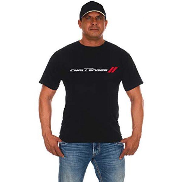JH DESIGN GROUP Graphic Tshirt 1 JH Design Men's Dodge Challenger T-Shirt Short Sleeve Black Crew Neck Shirt