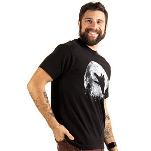 Ann Arbor T-shirt Co. Graphic Tshirt 4 Wolf Shadow Puppet | Unique Moon Outdoor Hike Camp Funny Fun Men Women T-Shirt
