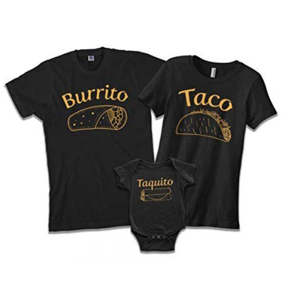 Threadrock Graphic Tshirt 1 Burrito Taco Taquito | Dad Mom Baby Matching Family Shirts Set