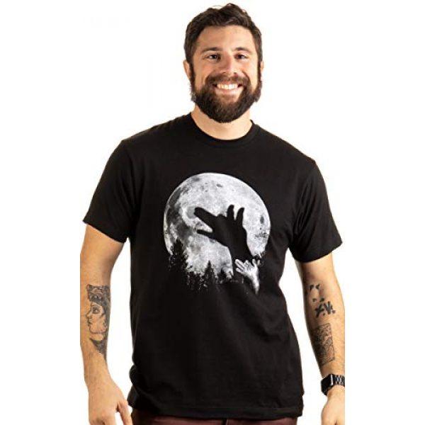 Ann Arbor T-shirt Co. Graphic Tshirt 3 Wolf Shadow Puppet | Unique Moon Outdoor Hike Camp Funny Fun Men Women T-Shirt