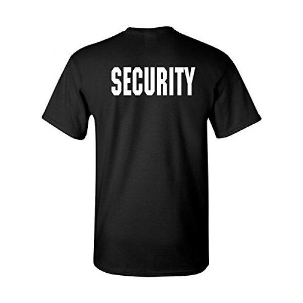 The Goozler Graphic Tshirt 3 Security Silkscreen Front & Back Black T-shirt