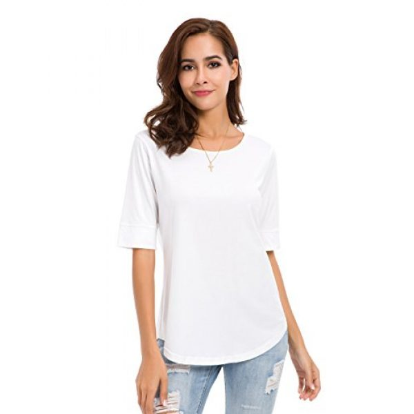 MSHING Graphic Tshirt 4 Women's Summer Casual Loose Fitting Tops Simple Crew Neck Plain Half Sleeve T-Shirt