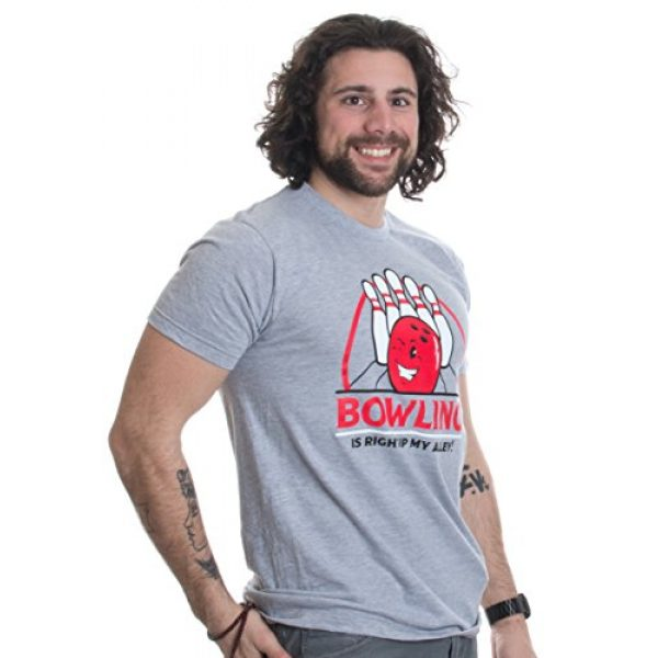 Ann Arbor T-shirt Co. Graphic Tshirt 3 Bowling is Right up My Alley! | Funny Bowler, Bowling Team Pun Humor T-Shirt