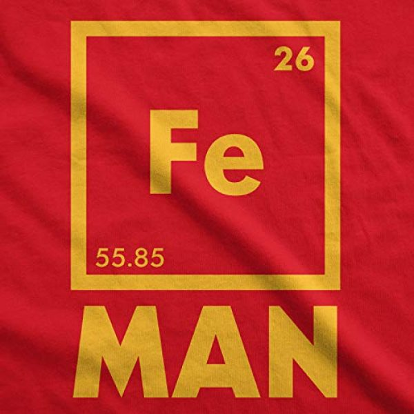 Crazy Dog T-Shirts Graphic Tshirt 2 Mens Iron Man Science T Shirt Cool Novelty Funny Nerdy Graphic Print Tee Guys