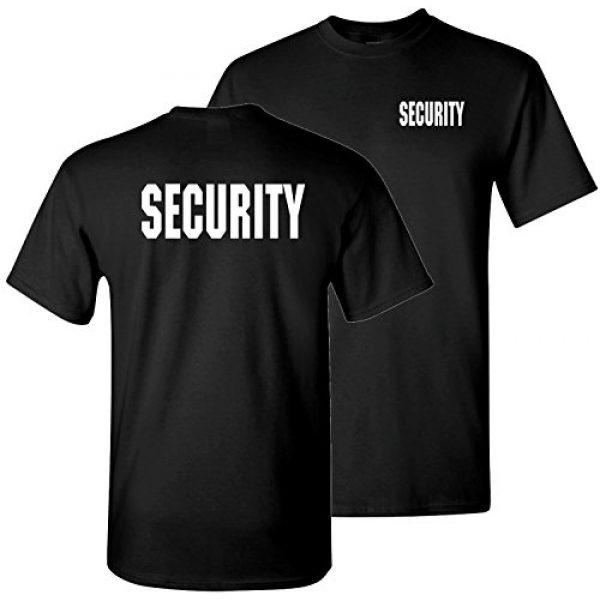 The Goozler Graphic Tshirt 1 Security Silkscreen Front & Back Black T-shirt
