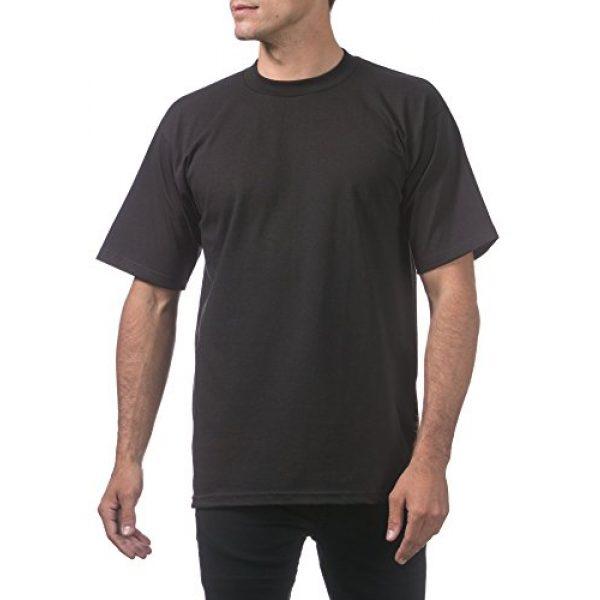 Pro Club Graphic Tshirt 5 Men's 6-Pack Heavyweight Cotton Short Sleeve Crew Neck T-Shirt
