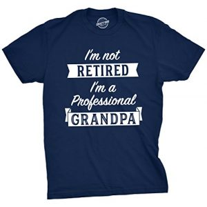 Crazy Dog T-Shirts Graphic Tshirt 1 Mens Im Not Retired Im A Professional Grandpa T Shirt Funny Papa Fathers Day Tee
