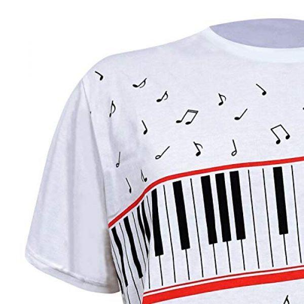 CIGUO Graphic Tshirt 2 Mens Boys Perfect Cosplay OLODUM Beat It Piano Peace Anti War T- Shirts