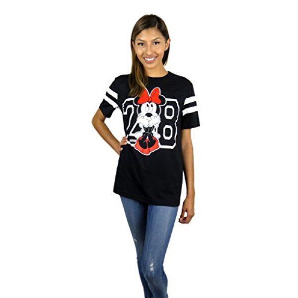Disney Graphic Tshirt 4 Womens Minnie Mouse Varsity Football Tee