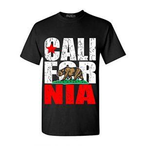 Shop4Ever Graphic Tshirt 1 California State Flag Bear T-Shirt