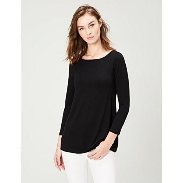 Daily Ritual Graphic Tshirt 2 Women's Jersey 3/4-sleeve Bateau-Neck Swing T-Shirt