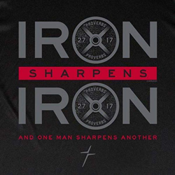 Kerusso Graphic Tshirt 2 Men's Iron Sharpens Iron T-Shirt - Black -
