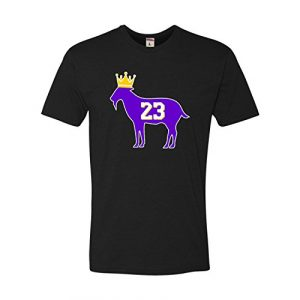 Go All Out Graphic Tshirt 1 Adult Goat James G.O.A.T. King Deluxe T-Shirt