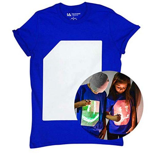 Illuminated Apparel Graphic Tshirt 1 Interactive Glow in The Dark T-Shirt - Fun for Birthday Parties & Festivals