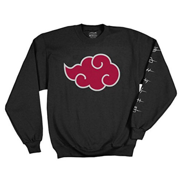 Ripple Junction Graphic Tshirt 1 Naruto Shippuden Adult Akatsuki Cloud Anti Leaf Symbols Fleece Crew Sweatshirt
