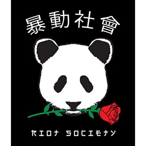 Riot Society Graphic Tshirt 4 Panda Rose Mens Long Sleeve T-Shirt - XXL
