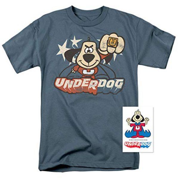 Popfunk Graphic Tshirt 2 Underdog Flying Logo Retro Cartoon T Shirt & Stickers