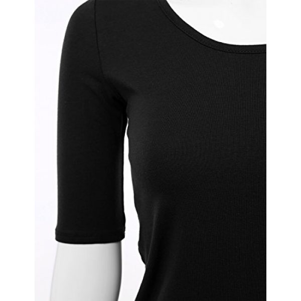 SSOULM Graphic Tshirt 4 Women's 1/2 Sleeve Scoopneck Cotton Basic Slim Fit T-Shirt Top with Plus Size