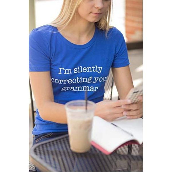 Crazy Dog T-Shirts Graphic Tshirt 7 Womens Silently Correcting Your Grammar Funny T Shirt Nerdy Sarcastic Novelty Tee