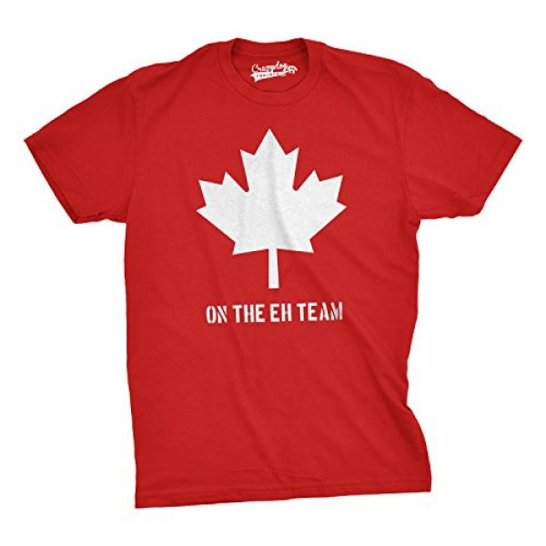 Crazy Dog T-Shirts Graphic Tshirt 1 Mens On The Eh Team Canada T Shirt Funny Novelty Sarcasm Canadian Gift Cool